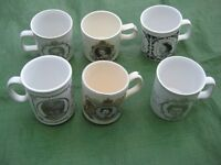 Six Commemorative Royal Mugs for £5.00