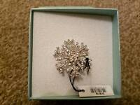 New in box Park Lane Accessories silver coloured Brooch with stones