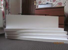 "IKEA Very good condition 5 ""IKEA"" Lack White Wall Floating Shelfs Size - 59 x 26 cm"