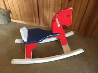 Baby toddler wooden rocking horse