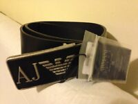 **Brand New** ARMANI JEANS AJ Leather Belt for Men - Made in Italy size 85