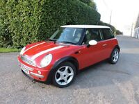 Mini Cooper 1.6 Solid Red,White /Chrome Detailing, Excellent Condition Low Mileage Example With Fsh
