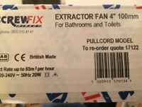 Bathroom extractor fan brand new