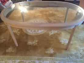 An antique dinning table