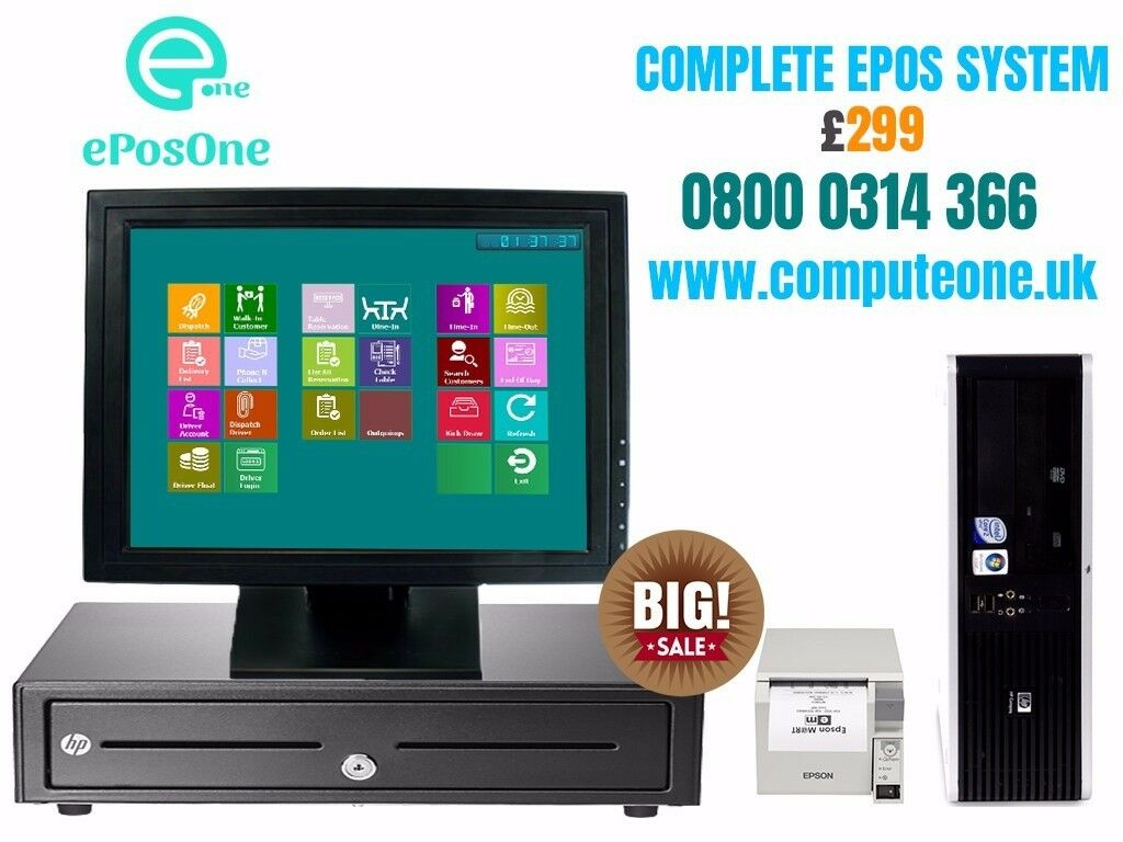 """Complete ePOS system 15"""" touch screen"""