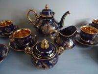 Vintage Turkish Durmusoglu China Tea Set Service