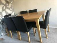 Oak dining table only