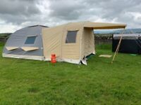 Karsten 350 inflatable tent ,plus awnings and extras , bought last year , as new