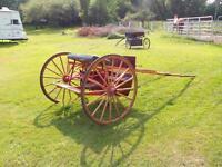 wooden wheel cart