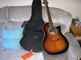 """Ovation Electro Acoustic """"Celebrity"""" Guitar with Gig Bag"""
