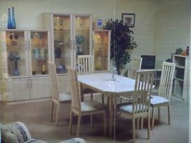 Caxton Extending Dining Table & 6 Chairs (Maple)