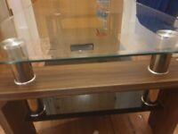 Glass 2 tier coffee table
