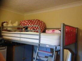 Sleeper bed with desk and wardrobe