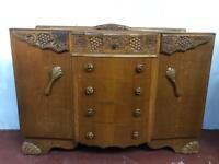 Vintage decorative oak sideboard