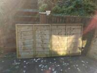 Four 3x6ft pine fence panels, free local delivery.