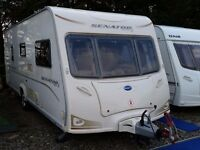 SUPERB 2009 Bailey Senator California 4 Berth Fixed Bed End Washroom Caravan with Motor Mover