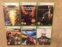 6 Xbox 360 games and remote contol