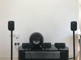 B&W PV1- M1 5.1 speakers / Pioneer AV SC-LX83 /blu-rayBDP-LX54 system
