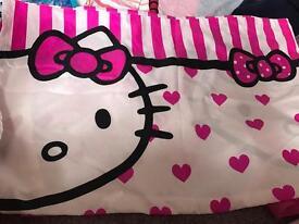 Hello kitty single duvet set with fleece blanket
