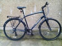 Mongoose crossway large hybrid lightweight bike city road can deliver locally