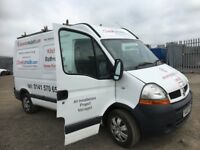 Renault master van breaking engine gearbox turbo alternator front hub seats doors wheels rear axel