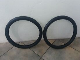 2 leather steering wheel covers