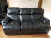 3 seater soft leather sofa....
