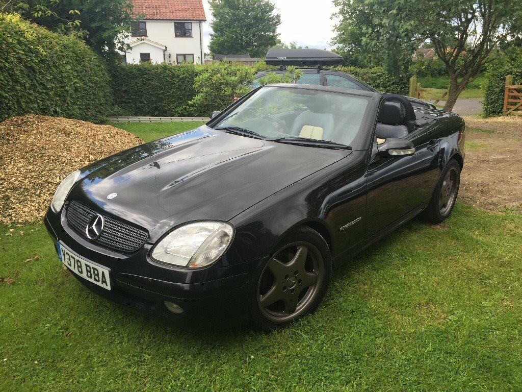 2001 Mercedes SLK 230 Kompressor in Black with cream leather trim