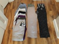 WOMANS BUNDLE SIZE 14 TROUSERS/CROPS
