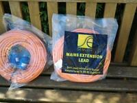 mains extension leads for caravan or campervan