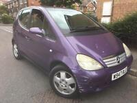 2000/W Mercedes A160 Avantgarde Auto 1.6 Mauve/Purple Half Leather Long Mot:9/5/2018 Low Miles:79K