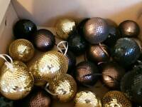 Box of classy Christmas baubles, originally from John Lewis