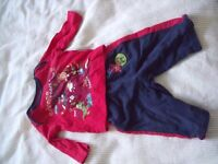 T-shirts, trousers, dungarees and outfit bundle - 3 to 6 months