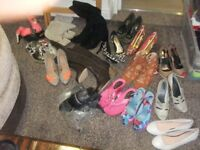 Large bundle of Womens Shoes & Boots Some Brand New