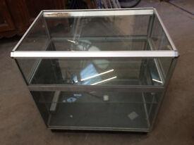 2 x rectangular Glass display £40 each
