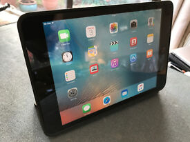Apple iPad Mini 32gb wifi+cellular black, with case and charger