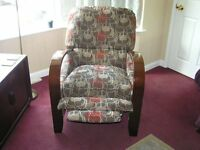 Brown Recliner Armchair For Sale