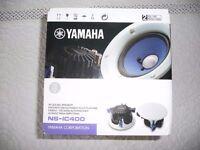 Pair of Yamaha NS-IC400 In-Ceiling Speakers White 90-Watts