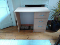 Solid Desk With Three Drawers In Good Condition