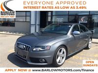 2012 Audi S4 3.0 (S tronic) AWD/AUTO/LEATHER/SUNROOF