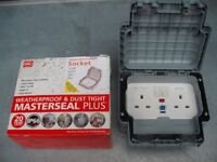 MK 'MASTERSEAL PLUS'..... 13Amp 2 GANG SWITCHED RCD SOCKET