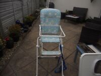 Baby high chair and reins