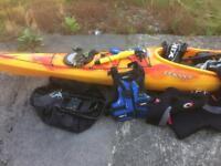 Sold Dagger Stratos 14.55 job lot Yak 60n Buoyancy Aid Feelfree 220cm paddle