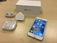 ***GRADE A *** Boxed Silver Apple iPhone 6 16GB Factory Unlocked Mobile Phone + Warranty