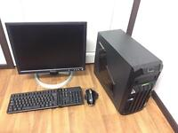 Budget Gaming Computer PC Setup with Monitor and Games (minecraft, counterstrike)