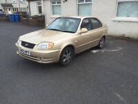 BARGAIN 2003 HYUNDAI ACCENT LONG MOT SERVICE HISTORY PX WELCOME £250