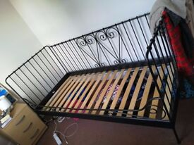 "Single ""day bed"" style bed frame with mattress - like new"