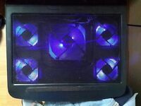 Laptop and Notebook USB Cooling Cooler Stand Pad, 5 Fans, LED backlighting, 10-17 inches