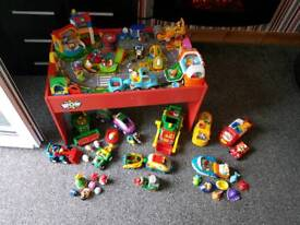 Wow toys massive job lot and play table