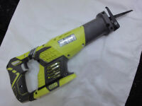 Ryobi One + cordless 18v Reciprocating saw RRS1801M. New with Extra Blades. Bare unit
